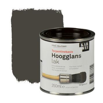 KARWEI lak hoogglans wengé bruin extra dekkend 250 ml