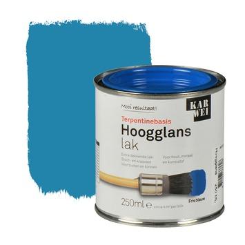 KARWEI lak hoogglans fris blauw extra dekkend 250 ml