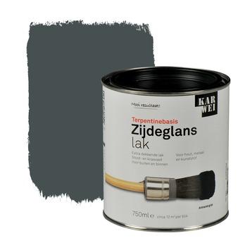 KARWEI lak zijdeglans antraciet grijs extra dekkend 750 ml
