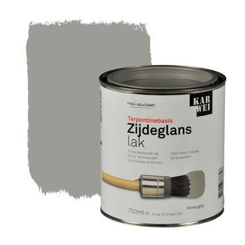 KARWEI lak zijdeglans wintergrijs extra dekkend 750 ml