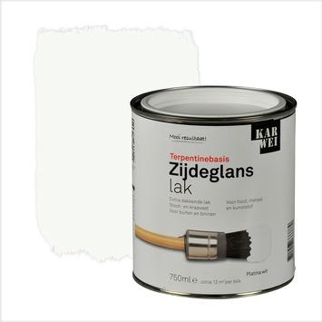 KARWEI lak zijdeglans platina wit extra dekkend 750 ml
