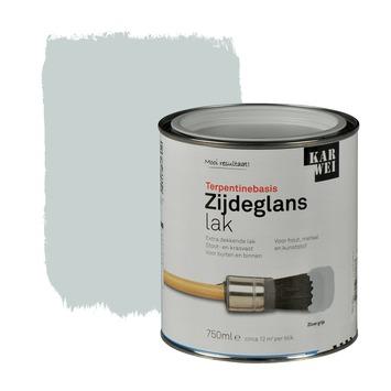 KARWEI lak zijdeglans zilvergrijs extra dekkend 750 ml