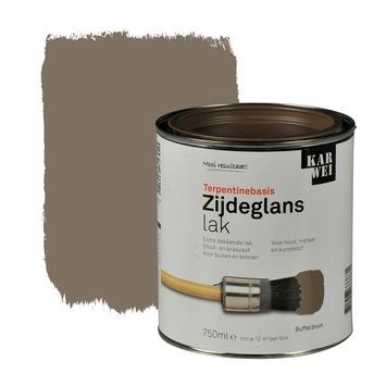 KARWEI lak zijdeglans buffel bruin extra dekkend 750 ml