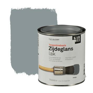 KARWEI lak zijdeglans zinkgrijs extra dekkend 750 ml