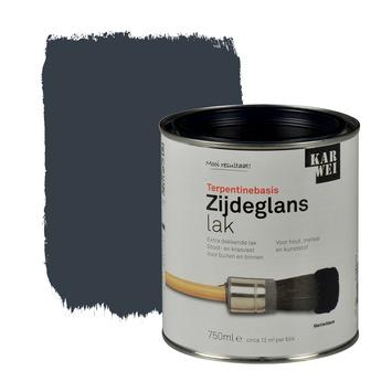 KARWEI lak zijdeglans marineblauw extra dekkend 750 ml