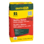 Beamix beton Nomix 125 grijs 17,5 kg + 15% gratis