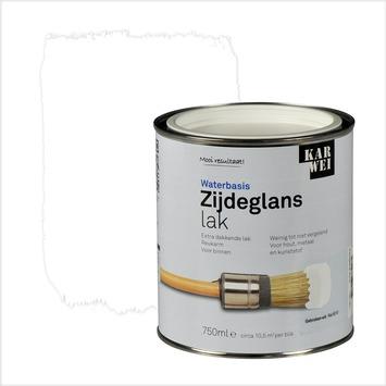 KARWEI lak waterbasis zijdeglans gebroken wit extra dekkend 750 ml