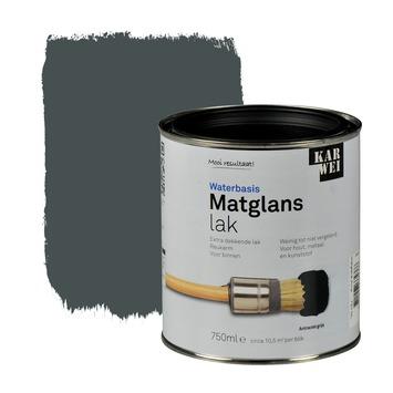 KARWEI lak matglans antraciet grijs extra dekkend 750 ml
