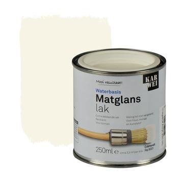 KARWEI lak waterbasis matglans crèmewit extra dekkend 250 ml