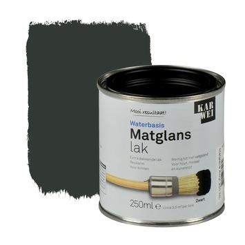 KARWEI lak waterbasis matglans zwart extra dekkend 250 ml