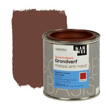 KARWEI grondverf metaal anti-roest roodbruin 250 ml