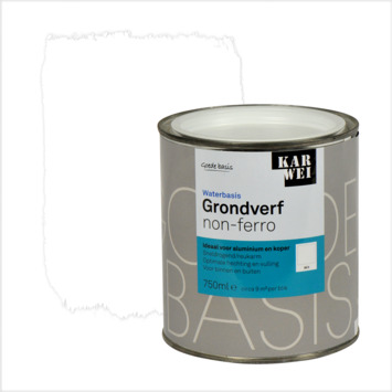KARWEI grondverf waterbasis non-ferrometaal wit 750 ml
