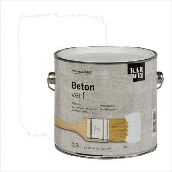 Top KARWEI betonverf zijdeglans wit 2,5 l kopen? speciaalverf | KARWEI HE54