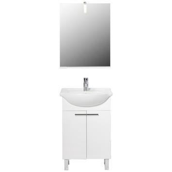 Handson badkamermeubel Amy hoogglans wit 55 cm