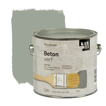 KARWEI betonverf zijdeglans grijs 2,5 l