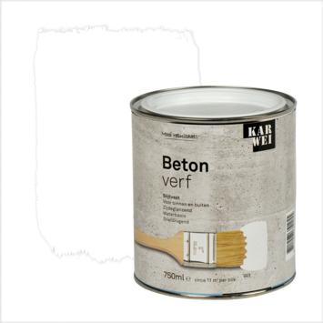 KARWEI betonverf zijdeglans wit 750 ml