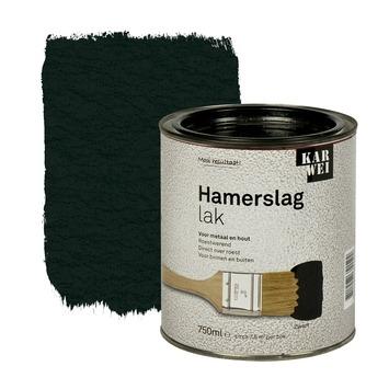 KARWEI hamerslag lak roestwerend zwart 750 ml