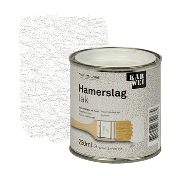 KARWEI hamerslag lak roestwerend wit 250 ml