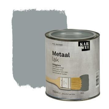KARWEI metaallak hoogglans grijs 750 ml