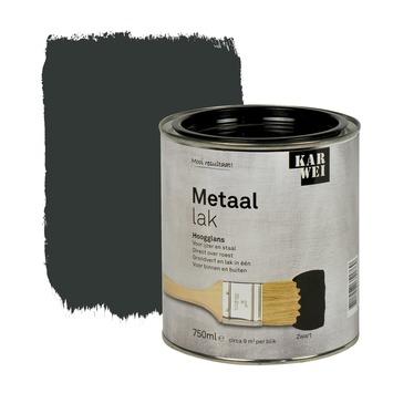 KARWEI metaallak hoogglans zwart 750 ml