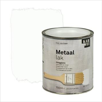 KARWEI metaallak hoogglans wit (RAL 9010) 750 ml