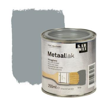 KARWEI metaallak hoogglans grijs 250 ml