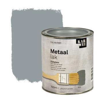 KARWEI metaallak zijdeglans grijs 750 ml