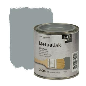 KARWEI metaallak zijdeglans grijs 250 ml