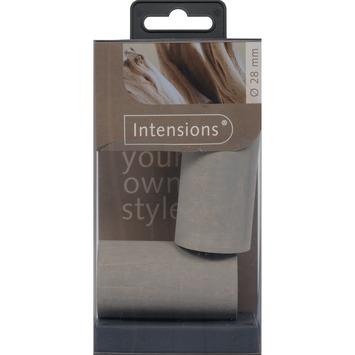 Eindknop Rond voor 28 mm gordijnroede hout grijs 2 stuks