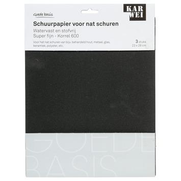 KARWEI waterproof schuurpapier super fijn