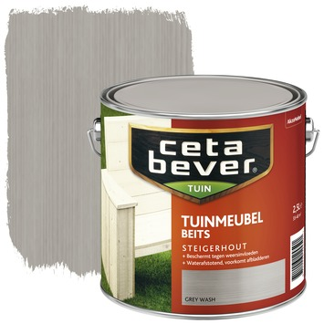 Cetabever tuinmeubelbeits grey wash 2,5 l