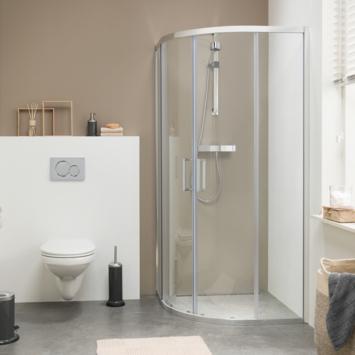 Genoeg Get Wet Douchecabine met Schuifdeur Style Kwartrond 90x195 cm SN72