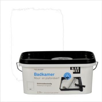KARWEI muur- en plafondverf badkamer mat wit 2,5 l kopen? Muurverf ...