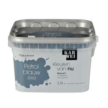 Blauwe muurverf cheap blauw verf en potlood royalty vrije for Petrol verf