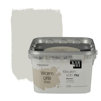 Karwei kleuren van nu muurverf mat warmgrijs 2 5 l kopen for Karwei openingstijden zondag