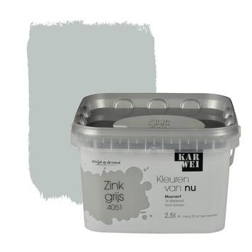 Karwei kleuren van nu muurverf mat zinkgrijs 2 5 l kopen muurverf kleur karwei - Kleur schilderij zink ...