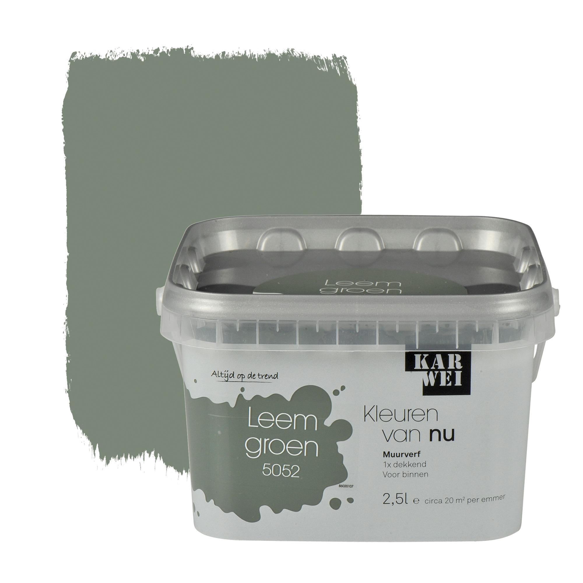 Karwei kleuren van nu muurverf mat leemgroen 2 5 l for Betonlook verf praxis