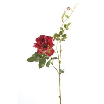 Kunstroos Dianna donkerroze 75 cm