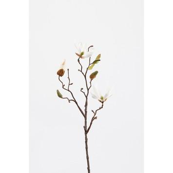 Kunstbloem Magnolia wit 42 cm