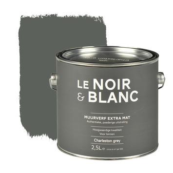 Le Noir & Blanc muurverf extra mat charleston grey 2,5 l