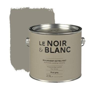 Le Noir & Blanc muurverf extra mat mud grey 2,5 l