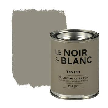Le Noir & Blanc muurverf extra mat mud grey 100 ml