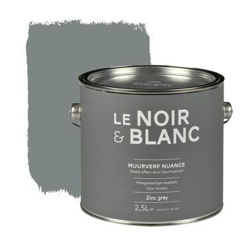 le noir blanc muurverf nuance zinc grey 2 5 l kopen le noir blanc karwei. Black Bedroom Furniture Sets. Home Design Ideas