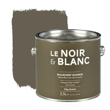 Le Noir & Blanc muurverf nuance clay brown 2,5 l