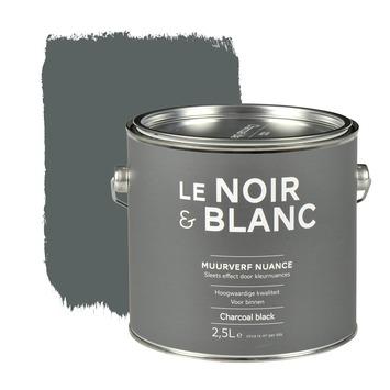Le Noir & Blanc muurverf nuance charcoal black 2,5 l
