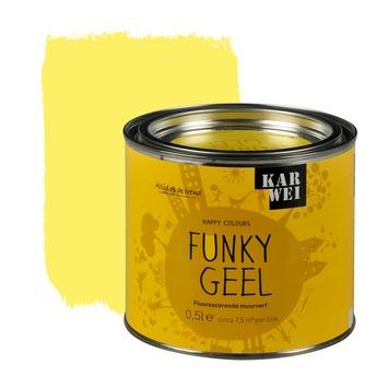 KARWEI Happy Colours accentverf zijdeglans funky geel fluorescerend 500 ml