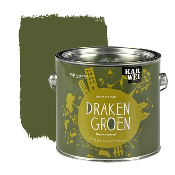 KARWEI Happy Colours muurverf mat drakengroen 2,5 l
