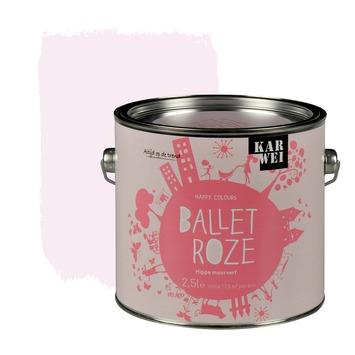 Karwei happy colours muurverf mat ballet roze 2 5 l kopen muurverf kleur karwei - Hoe roze verf ...