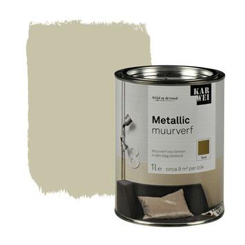 KARWEI muurverf hoogglans metallic goud 1 l