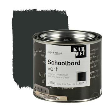 KARWEI schoolbordverf mat zwart 500 ml